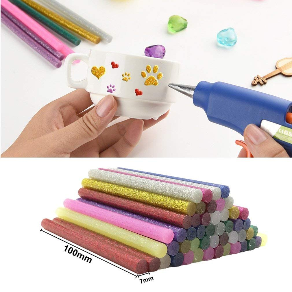 130pcs Colorful Hot Melt Glue Stick, WeiMo Small Glue Gun Used Long Shape Hot Melt Glue Stick for Art Craft DIY Home Decoration Sealing and Gluing (130) by WeiMo (Image #5)