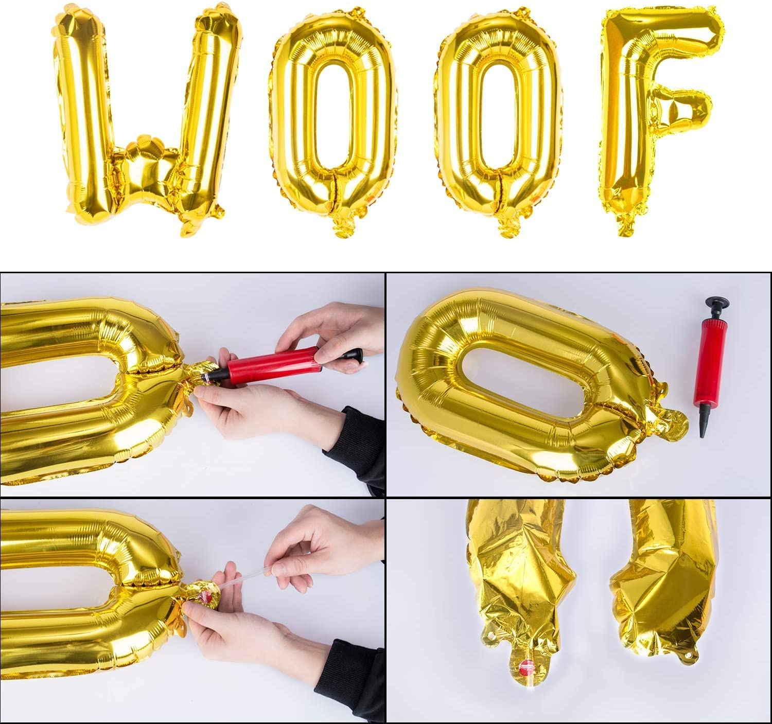 25PCS Biodegradable Latex Balloons for Dog Birthday Decorations Including WOOF Ballons Lattook Dog Birthday Party Decoration Supplies