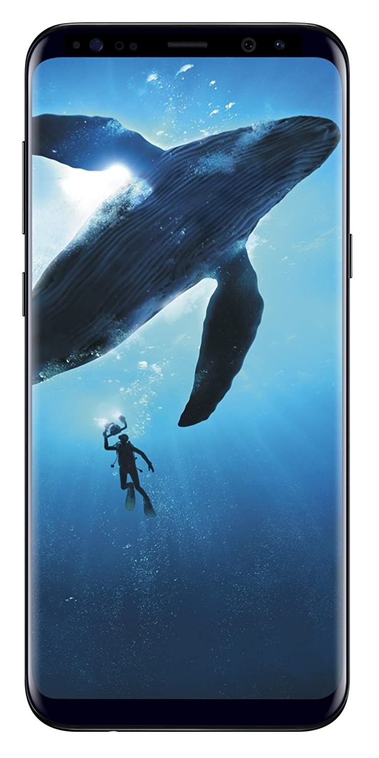 Samsung Galaxy S8 64GB Phone - 5.8in Unlocked Smartphone - Midnight Black (Renewed)