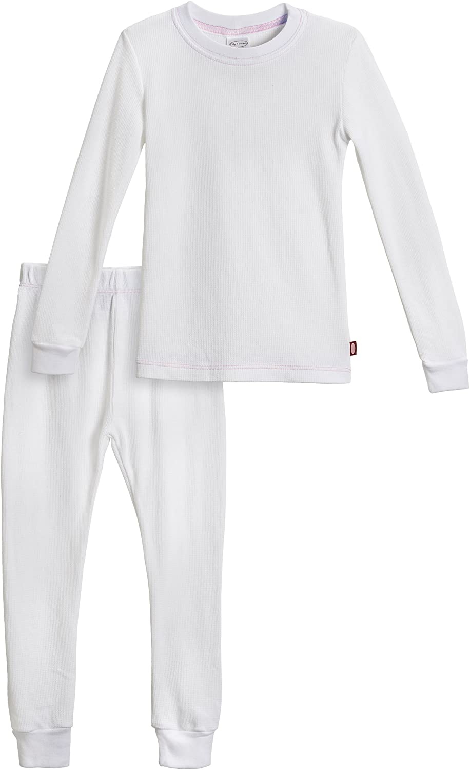 City Threads Girls Thermal Underwear Set Long John, Soft Breathable Cotton Base Layer - Made in USA