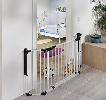 van Hoogen® Discovery   Barrera de seguridad para puertas   Barrera cierre   Separador de estancias   80-125 cm   En 2 colores y tamaños   Bebé   Niño ...