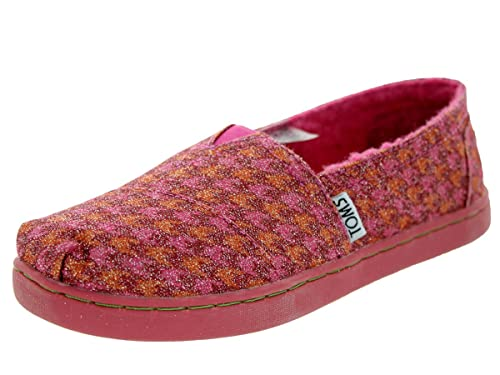 f8e7681588f TOMS Kids Classic Houndstooth Red Glmr Casual Shoe 1 Kids US