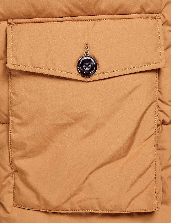 Jack /& Jones Mens Fortune Padded Parka Jacket Beige in Size Large