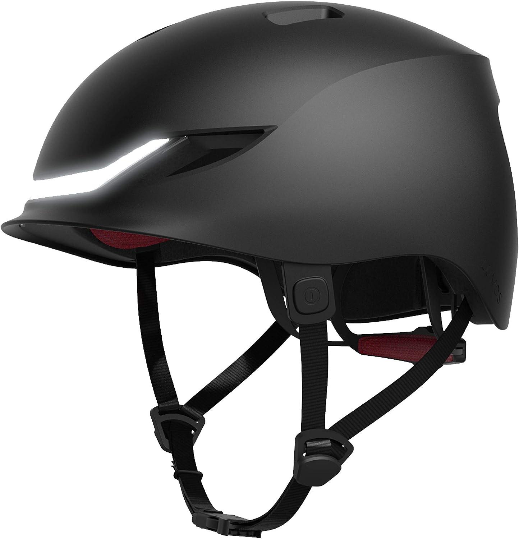 Lumos Matrix Smart Urban Bike Helmet | Front and Rear LED Lights | Customizable Display | Turn Signals | Brake Lights