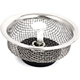 uxcell 85mm Dia Kitchen Sink Basin Mesh Stopper Filter Strainer Silver Tone