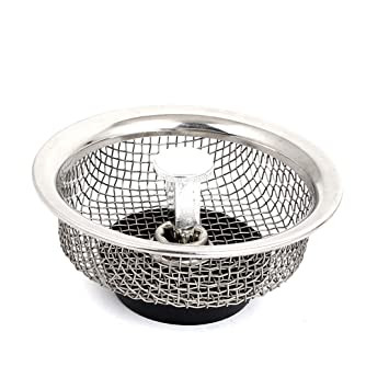 uxcell 85mm dia kitchen sink basin mesh stopper filter strainer silver tone - Kitchen Sink Filter