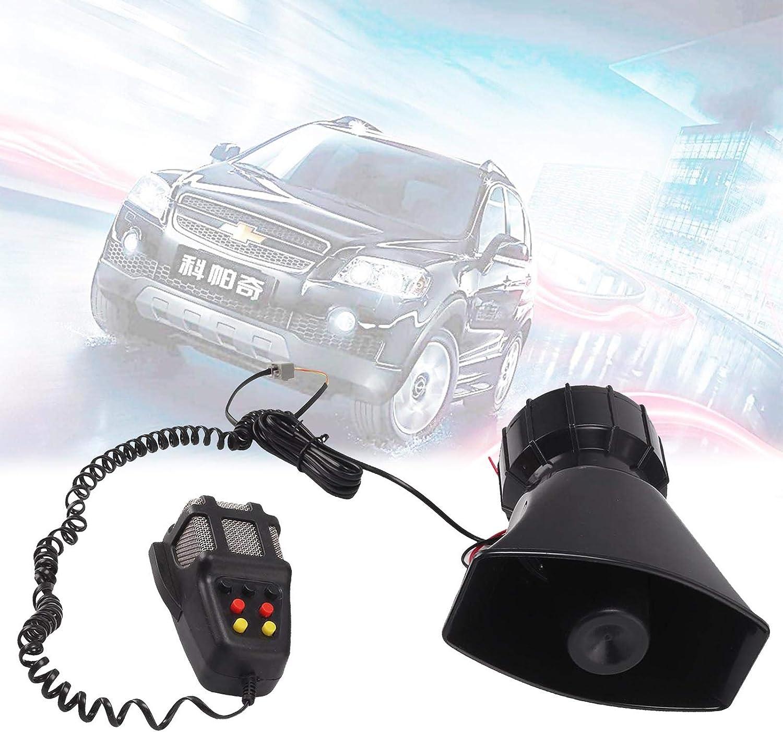 Shoze 100W 12V 130DB Car Police Fire Alarm Siren Horn Warning Loud Speaker With Mic