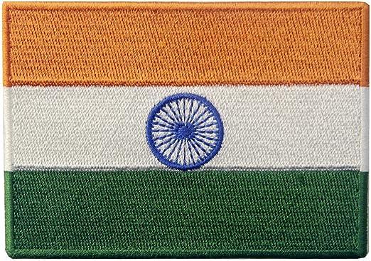Bandera de la India Indio Parche Bordado de Aplicaci/ón con Plancha