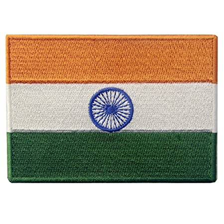 India Flag Patch Embroidered Iron Sew On Cloth Indian Badge Embroidery Applique