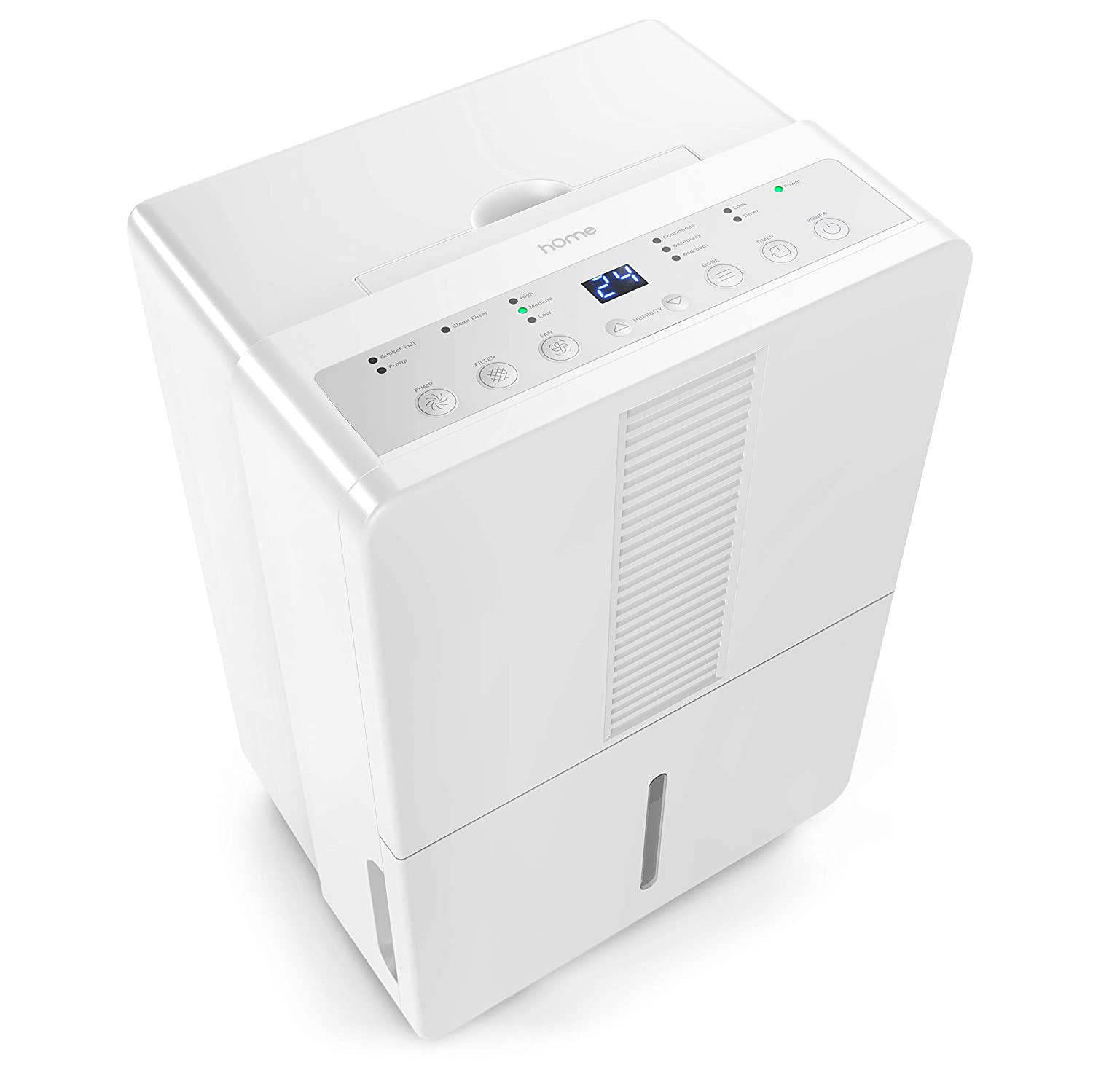 hOmeLabs 70 Pint Dehumidifier Featuring Intelligent Humidity Control with Pump Ideal for Large-Sized Rooms and Basements to Remove Moisture-Related Mold Energy Star Rated Mildew and Allergens