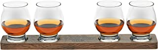 product image for Libbey Signature Kentucky Bourbon Trail Whiskey Tasting Set, 4 Whiskey Glasses with Wood Paddle