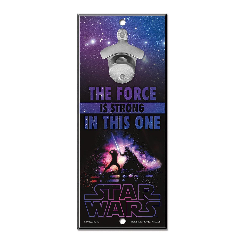 WinCraft Disney Star Wars Wood Sign Bottle Opener Multi Character