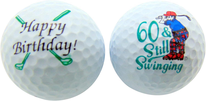 Westmon Works 60th Birthday Sixty & Still Swinging Set of 2 Golf Ball Golfer Gift Pack