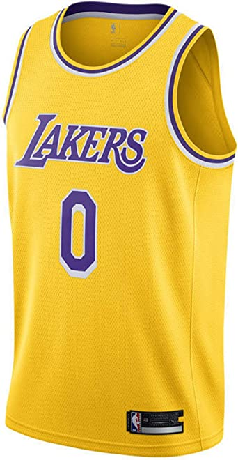 Nike Lebron James Los Angeles Lakers NBA Boys Kids 4-7 Yellow Icon Edition Player Name /& Number Dri-Fit T-Shirt