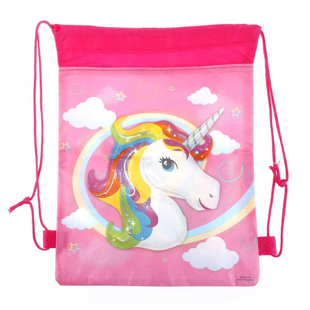 BraveWind 1 Pcs Unicorn Storage Bag Drawstring Bag For Unicorn Kid Birthday Party Wedding Graduation Decor