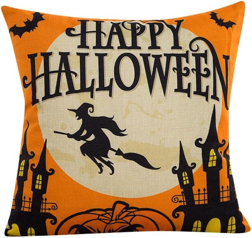 Oyedens Halloween Pumpkin Pillow Cover Square Cushion Case Pillowcase E Amazon Co Uk Kitchen Home
