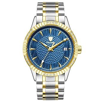 d9e725f7814d1 Montre Homme - Diamant Cadran Rond - Mécanique Automatique - Affaires Série  Bracelet Acier Lumineuse étanche