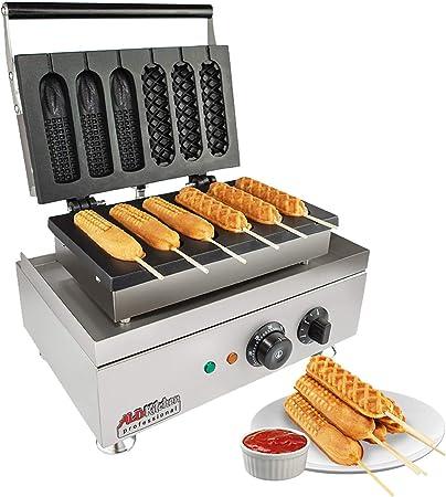 Gaetooely Electric Crispy Corn Hotdog Waffle Maker French Muffin Hot Dog Lolly Stick Sausage Machine Breakfast Pan Baking Grill UK Plug