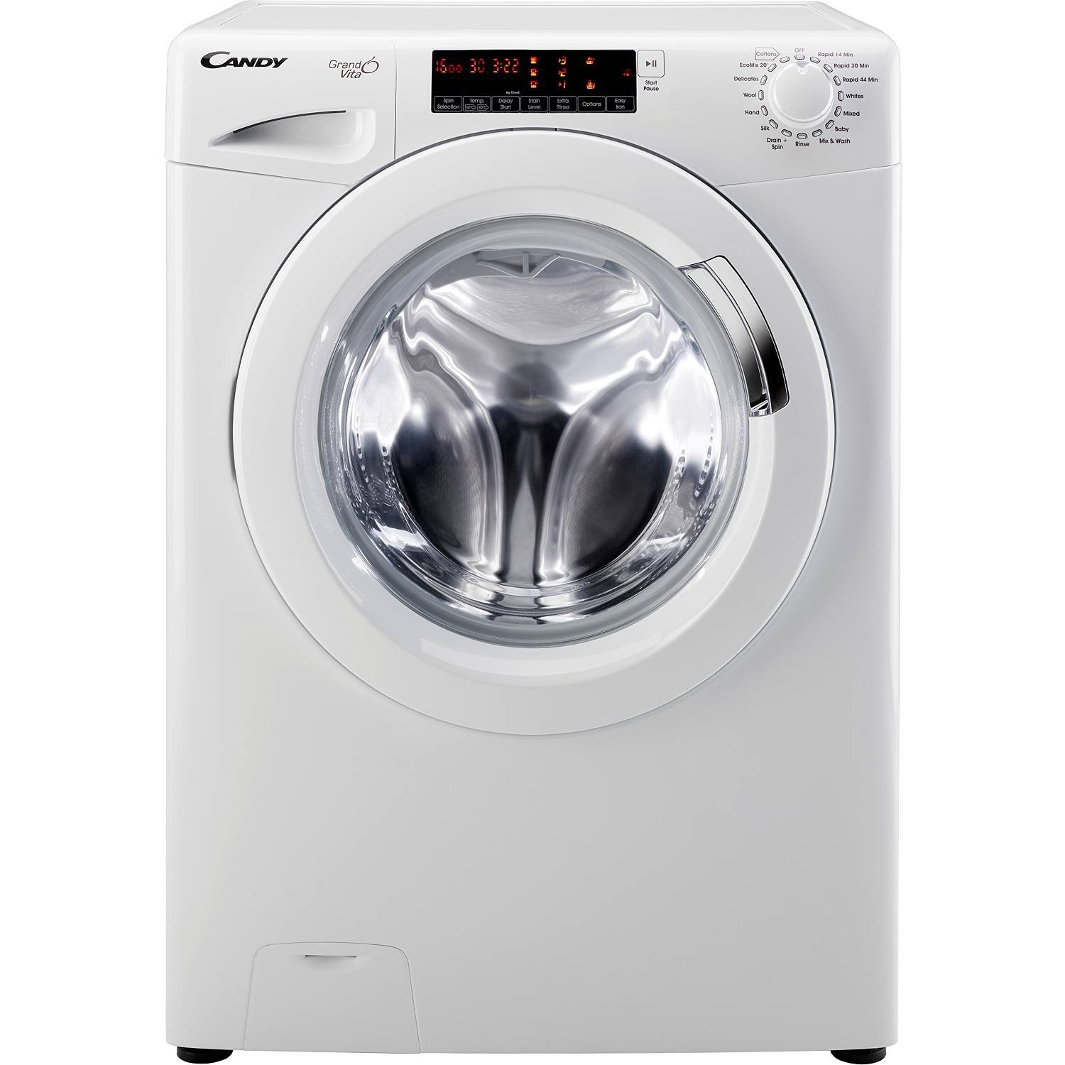 CANDY GV168T3W A+++ Rated 8Kg 1600 Spin 16 Programmes Washing Machine in  White: Amazon.co.uk: Kitchen & Home