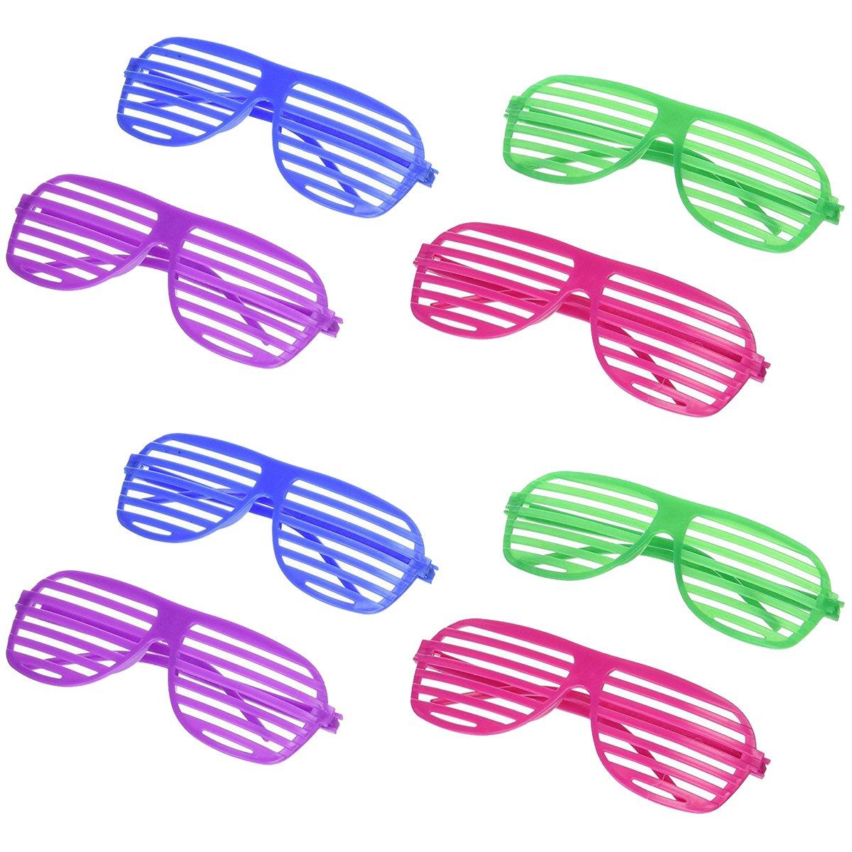 5b7b572336 Amazon.com  Oriental Trading Shutter Shading Glasses (12-Pair)  Toys   Games