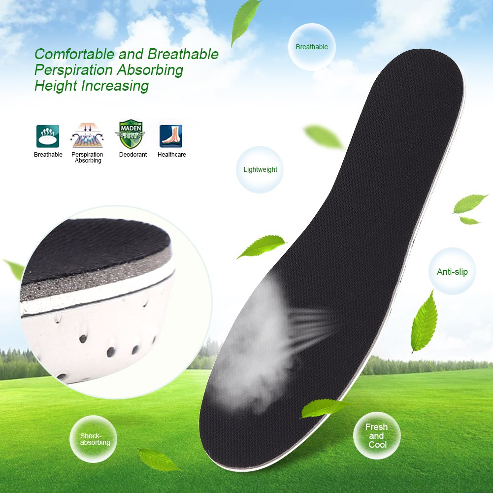 Increase Memory Cotton Sport Shock Absorbing Breathable Heel Lift Insert Invisible Shoes Pad 2CM EVA Inner Heightened Insole