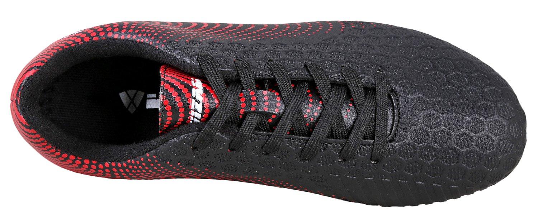 Vizari Youth/Jr Stealth FG Soccer Cleats | Soccer Cleats Boys | Kids Soccer Cleats | Outoor Soccer Shoes | Black/Red 2 by Vizari (Image #5)