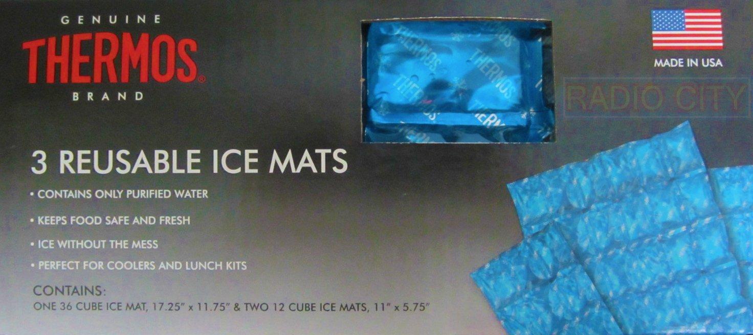 Thermos 3 Piece Boxed Reusable Ice Mats