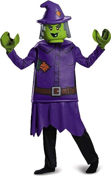 4-6 Purple Disguise Lego Witch Prestige Costume Small