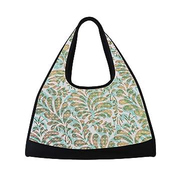 Amazon.com   Duffel Bag Colorful Leaf Shoulder Yoga Gym Tote ...
