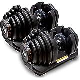 MRG 正規品 可変式 ダンベル 40kg アジャスタブルダンベル 5~40kg 17段階調節 ダイヤル 可変ダンベル [1年保証]
