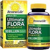 Renew Life Adult 50+ Probiotic, Ultimate Flora, 30 Billion, 90 Capsules