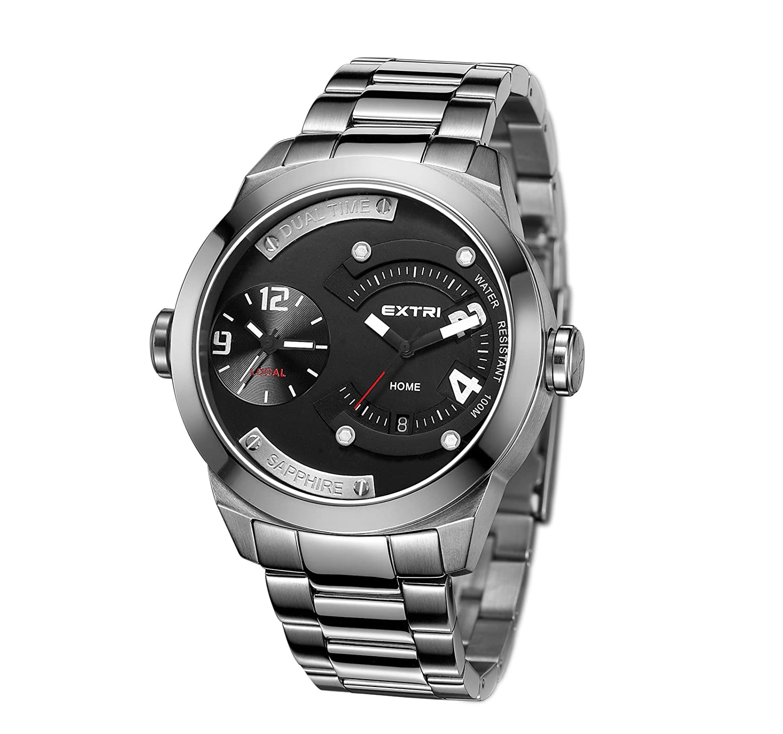 Extri Herren-Armbanduhr Analog Quarz Edelstahl X3015SB