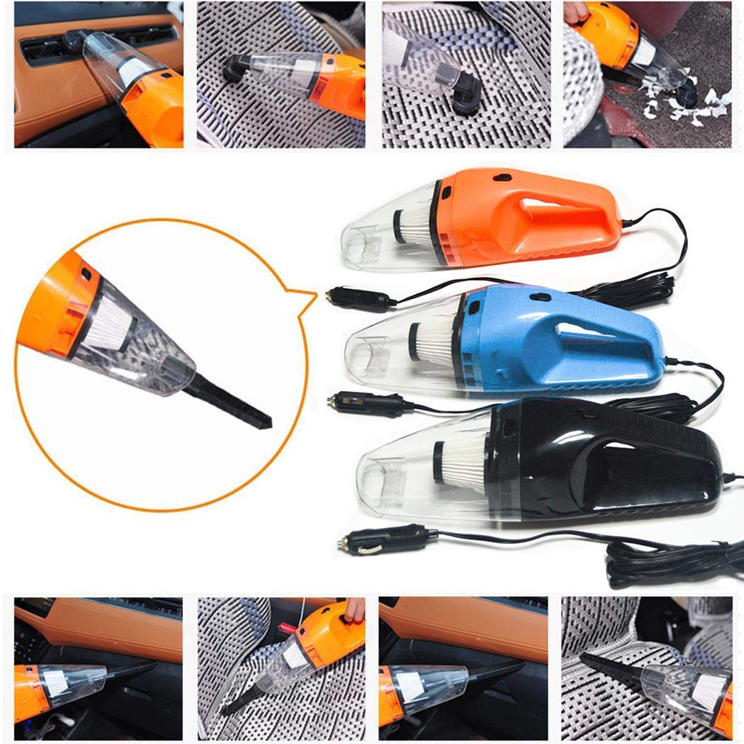 Youandmes Car Vacuum Cleaner, 120W Big Power Wet and Dry Car Vacuum Cleaner Central Vacuum Bags by Youandmes