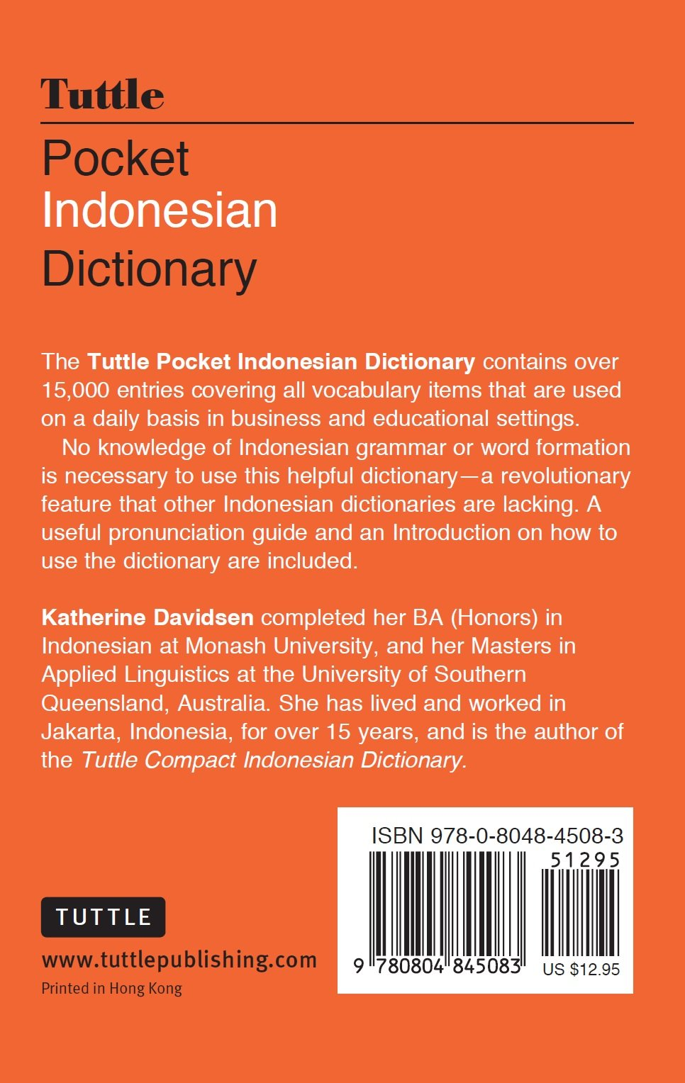 Tuttle Pocket Indonesian Dictionary: Indonesian-English English-Indonesian ( Tuttle Pocket Dictionaries): Katherine Davidsen: 9780804845083: Amazon.com:  ...