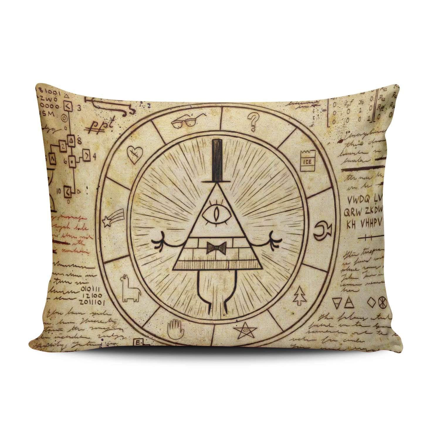 Custom Royal Modern Modern Gravity Falls Bill Cipher Decorative Pillowcase Pillowslip Throw Pillow Case Cover Zippered One Side Printed 20x30 Inches