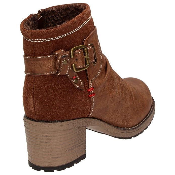 Jane Klain 263043-366 Damen Winter-Stiefelette Warmfutter Schuhe Mocca Braun, Schuhgröße:41
