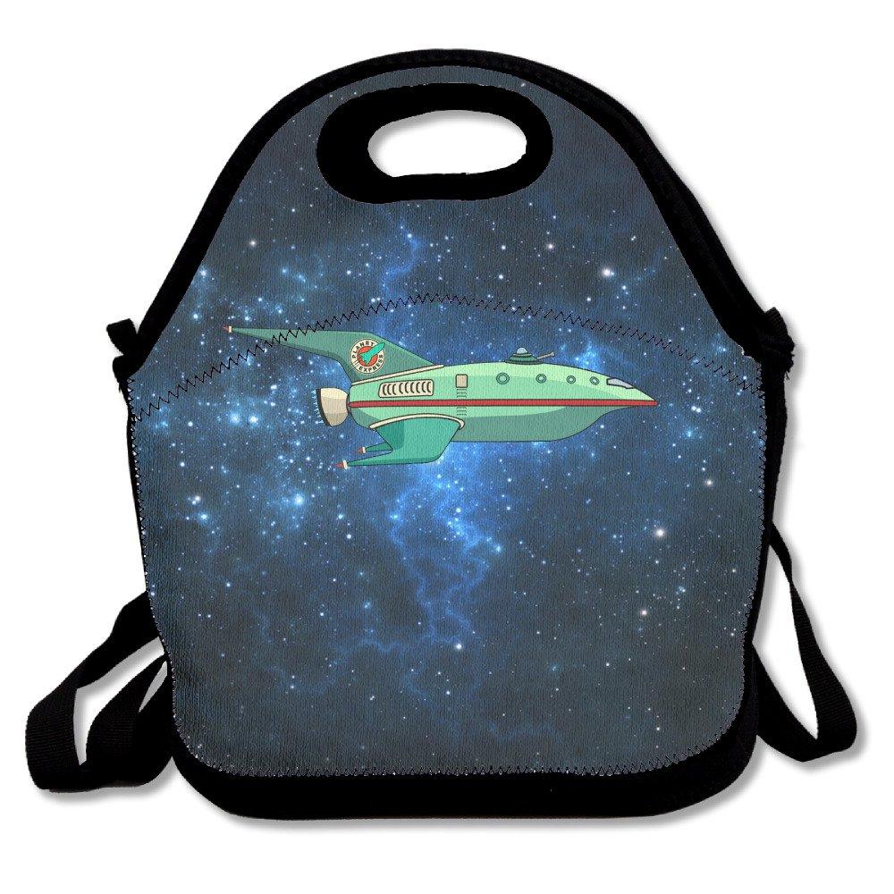 Custom The Planet Express nave reutilizable Ziplock Crossbody Bolsa de picnic diseñ o para oficina portá til almuerzo enfriador de caja de vuelta a la escuela bolsa de almuerzo caja de almuerzo bolso para niñ os niñ as Whaizuh
