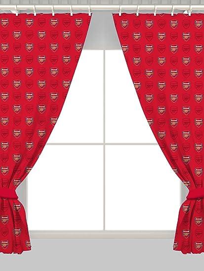 Amazon Com Arsenal 72 Drop Curtains Crest Design Home Kitchen