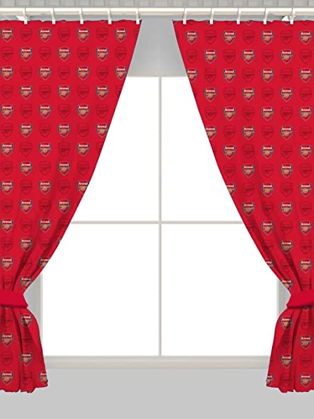 Arsenal 72u0026quot; Drop Curtains Crest Design