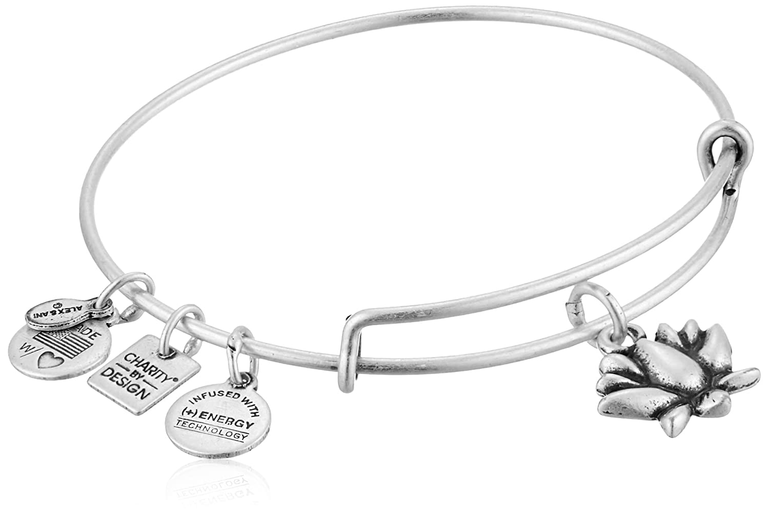 Alex and Ani Charity by Design Lotus Blossom Bangle Bracelet CBD12LBRS