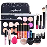 Makeup Kit For Women 20PCS All In One Makeup Kit With cosmetic Bag, Multi-Purpose Makeup Essential Starter Kit Compact…