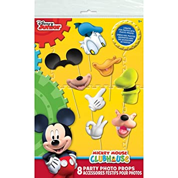 Amazoncom Mickey Mouse Clubhouse Photo Booth Props 8pc Toys Games