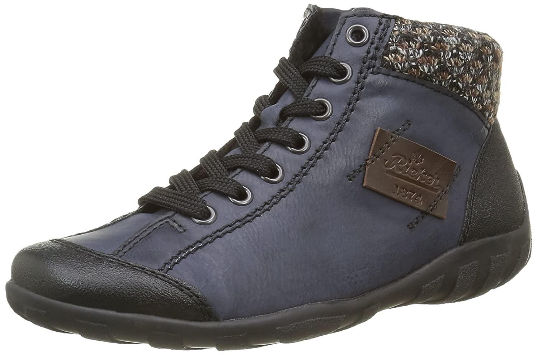 Rieker L6540 Zapatillas Altas de Deporte, para Mujer 38 EU|Azul (Schwarz/Ozean/Terra/Kastanie)