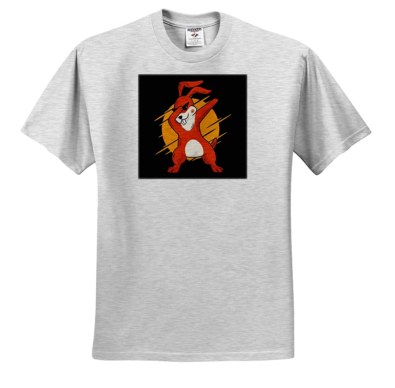 Dab Dabbing Rabbit for Happy Easter Celebration Adult T-Shirt XL 3dRose Sven Herkenrath Animal ts/_308586
