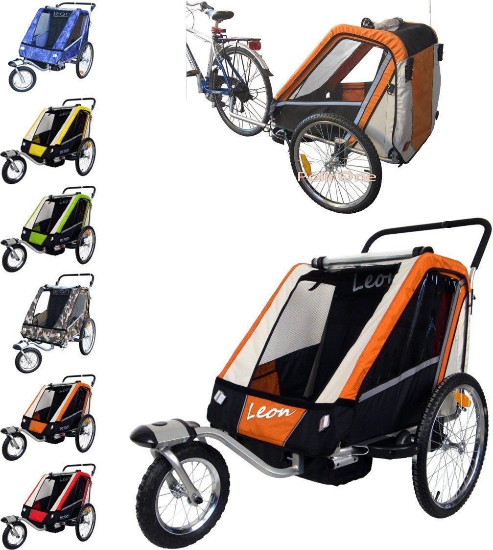 Leon paplioshop plegable bicicleta colgante Buggy con rueda delantera, para 1o 2niños, una puerta, New Arancio Papilioshop