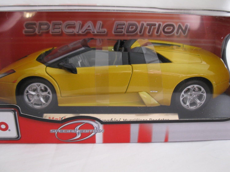Amazon Com Maisto Lamborghini Murcielago Roadster Yellow 1 18 Car