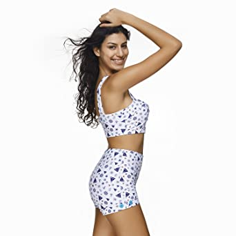 5277544894c92 Amazon.com  BaronHong Women Two Piece Swimsuit Bathing Suits Sexy White  High Waist Bikini  Clothing