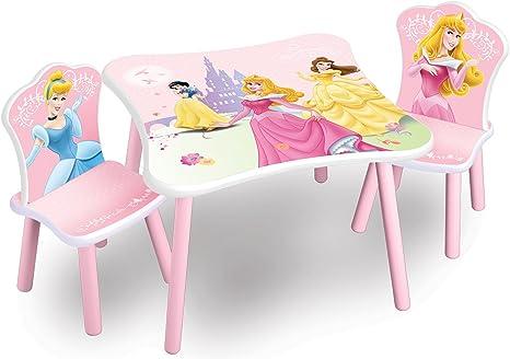 Delta – Juego de mesa y sillas para niños Princesas Disney: Amazon.es: Bebé
