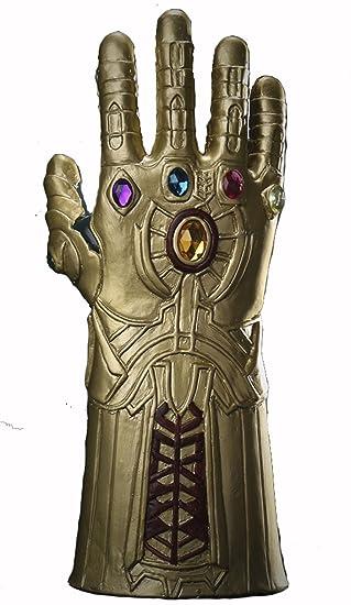YK Máscara de Látex Thanos Avengers 3cos Halloween Mask Heroes Infinity Gauntlet Men Juego (Gold