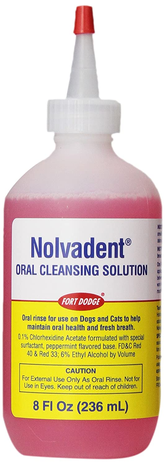 Fort Dodge Animal Nolvadent Oral Cleansing Solution Bottle, 8-Ounce